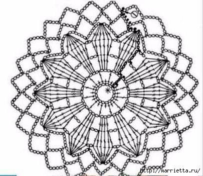 Шаль крючком из больших круглых мотивов (2) (405x350, 100Kb)