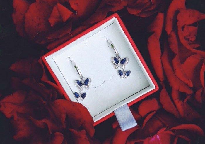 Серьги серебряные: бабочки, как произведение ювелирного искусства