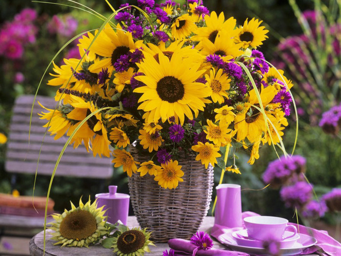 Фото красивое летних с цветами