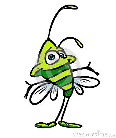 и-юстрация-шаржа-насекомого-зе-еная-57598747 (377x450, 77Kb)