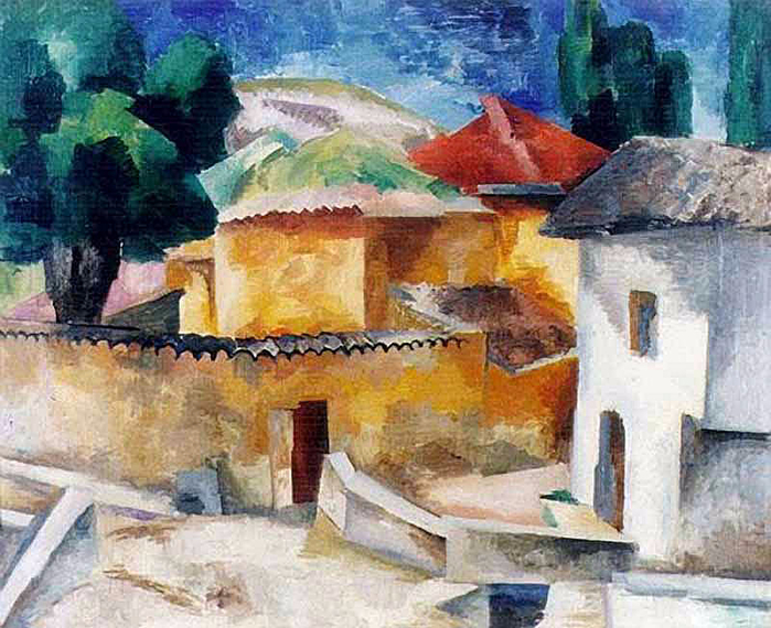Роберт Фальк «Турецкие бани в Бахчисарае» 1915 г. alk_b (700x570, 495Kb)