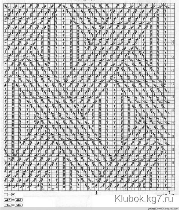 Джемпер ложная коса-1б-схема (596x700, 368Kb)