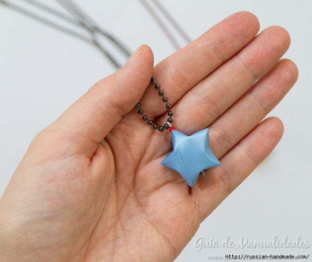 Бумажные украшения - звездочки в технике оригами (5) (626x527, 161Kb)