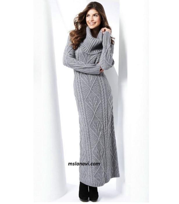 Длинное-вязаное-платье-с-аранами-полочка (616x700, 165Kb)