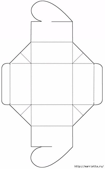 Шаблон сердечной коробочки для подарка (2) (433x700, 68Kb)