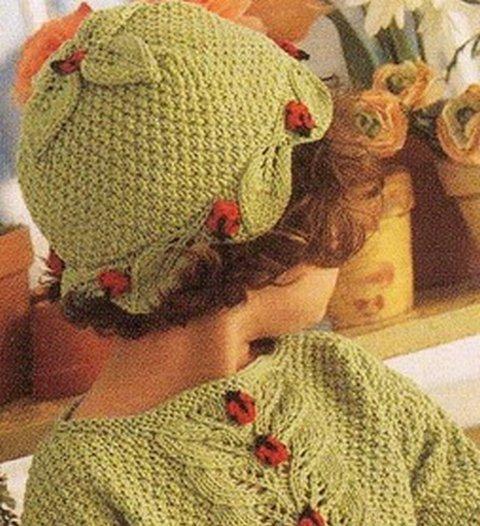 вязаная шапочка для девочки (480x526, 70Kb)