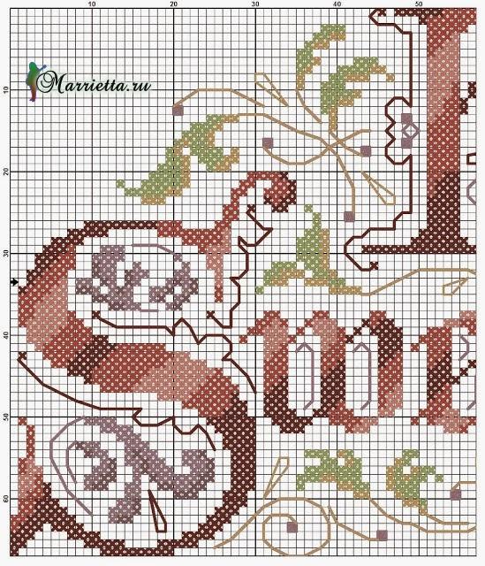 Схемы вышивки крестиком надписи 86