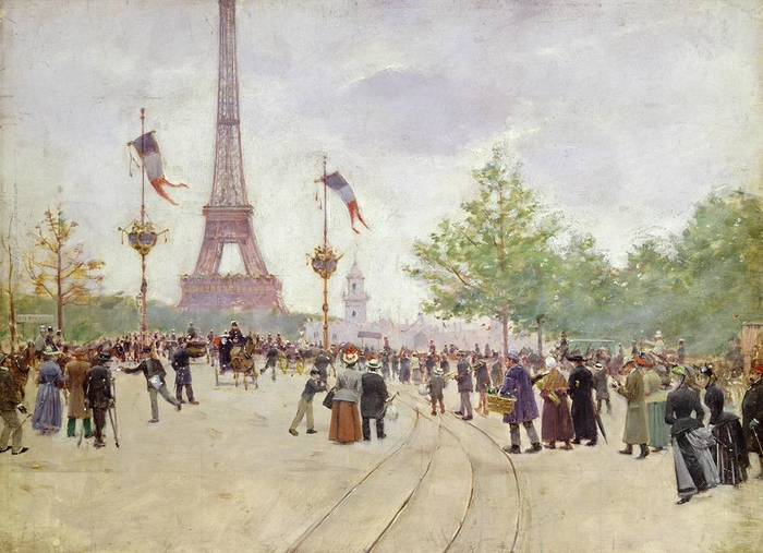 entrance-to-the-exposition-universelle-jean-beraud (700x507, 281Kb)