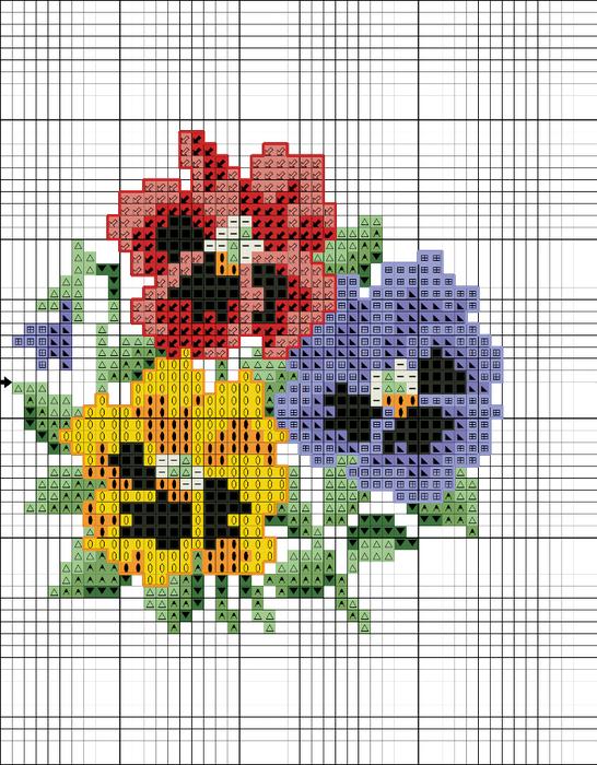 анютины глазки графика 48.233-1 (546x700, 434Kb)
