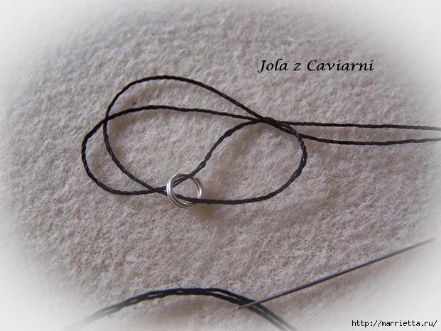 Плетение браслета плоской спиралью. Фото мк (5) (621x466, 198Kb)