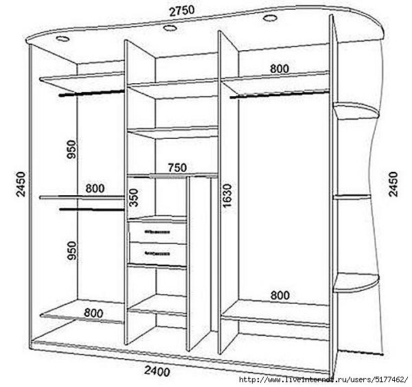 Шкаф купе. изготовление своими руками