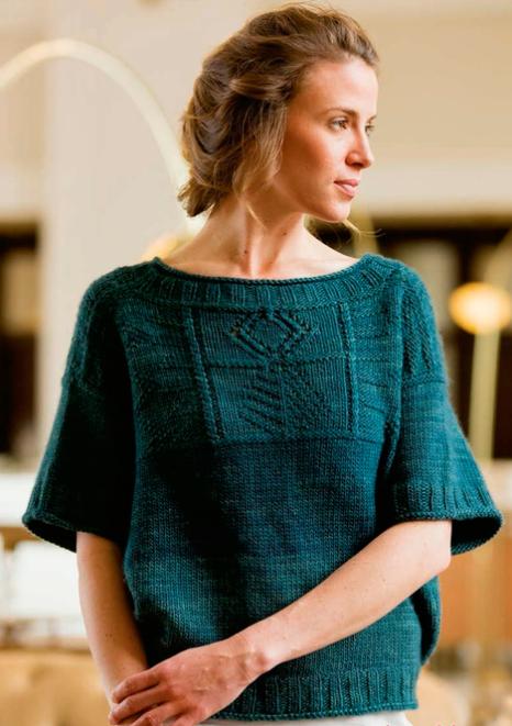 пуловер спицами (466x661, 670Kb)