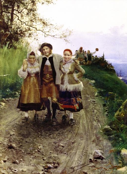 Лаки с дамами  1883-1885 (511x700, 300Kb)