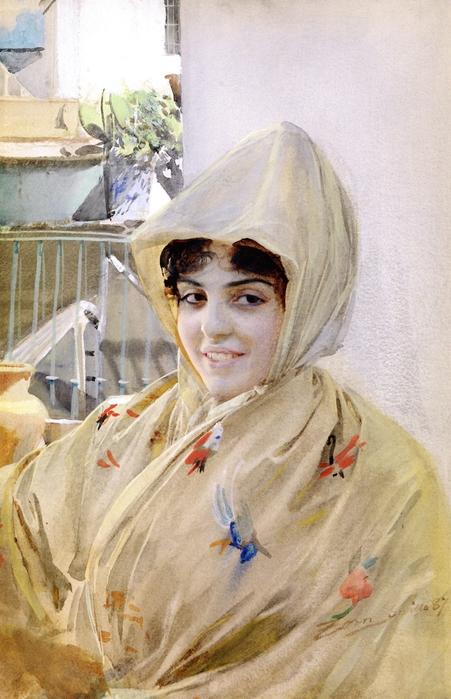 Испанская девушка в Севилье, 1887 (451x700, 235Kb)