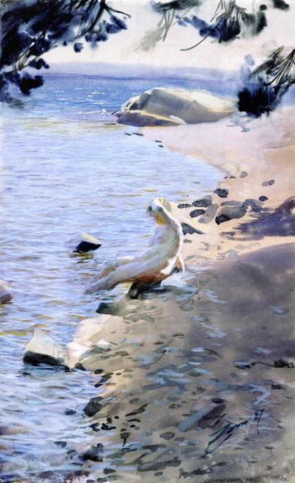 Этюд  в  Стокгольмском архипелаге   1887 (428x700, 244Kb)