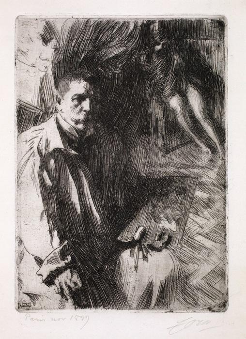 Автопортрет   с  моделью   1899 (508x700, 157Kb)