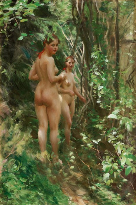 Anders Zorn   1860-1920  Hindar ( The Hinds)  1908 (462x700, 90Kb)