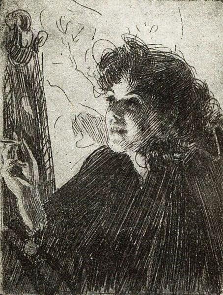 Курящая   женщина   1907 (454x599, 146Kb)