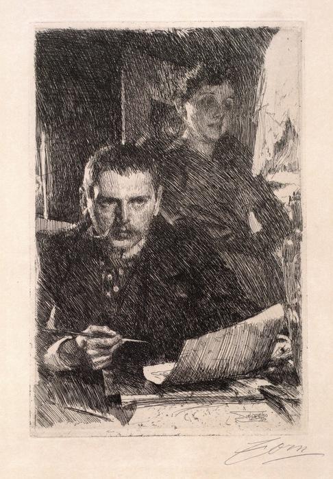 Цорн и его жена, 1890   Бостон,  музей  Изабеллы Стюарт Гарднер (486x700, 152Kb)