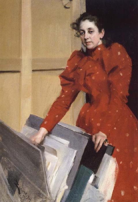 Портрет Эммы в парижской студии  1894 (479x700, 38Kb)