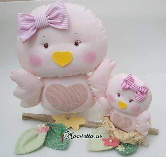 Выкройки птичек для пошива игрушки (7) (560x532, 171Kb)
