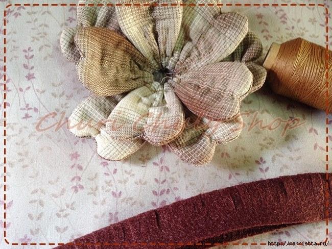 Текстильная брошь с цветами из ткани. Мастер-класс (3) (650x488, 290Kb)