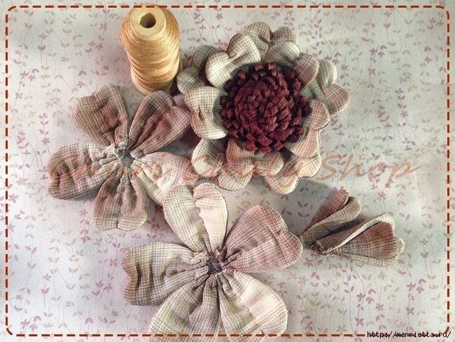 Текстильная брошь с цветами из ткани. Мастер-класс (4) (650x488, 241Kb)