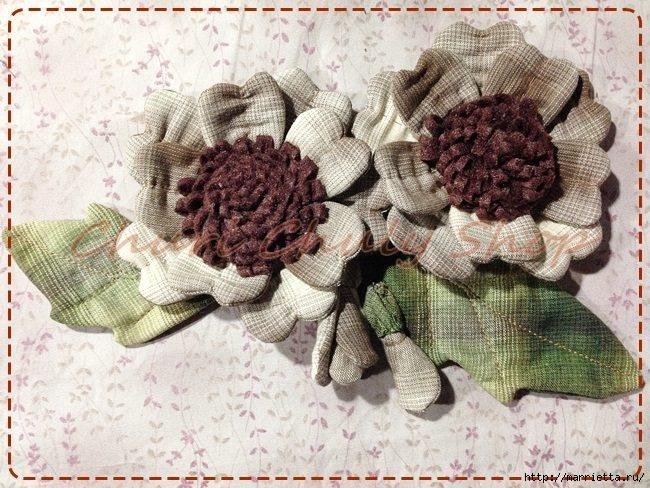 Текстильная брошь с цветами из ткани. Мастер-класс (22) (650x488, 253Kb)