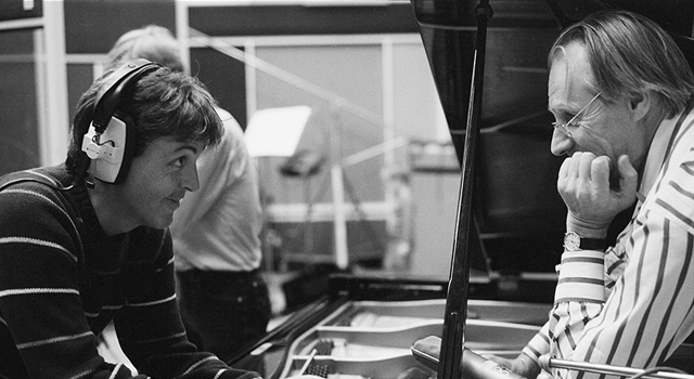 Paul and George Martin