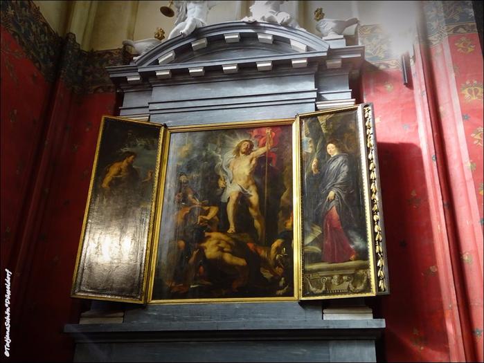 В соборе Антверпенской богоматери. Живопись.