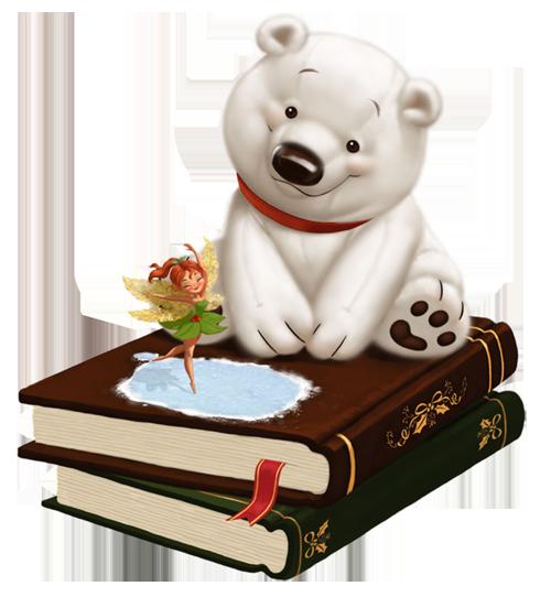 книга и медвежонок (500x542, 231Kb)