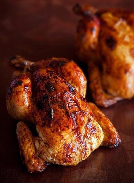 Курица, запеченная в хрустящей корочке