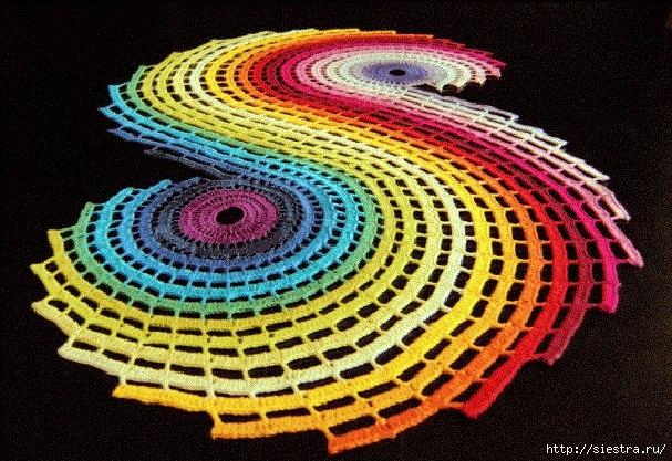 Вяжем салфетки Радуга1 (607x417, 293Kb)