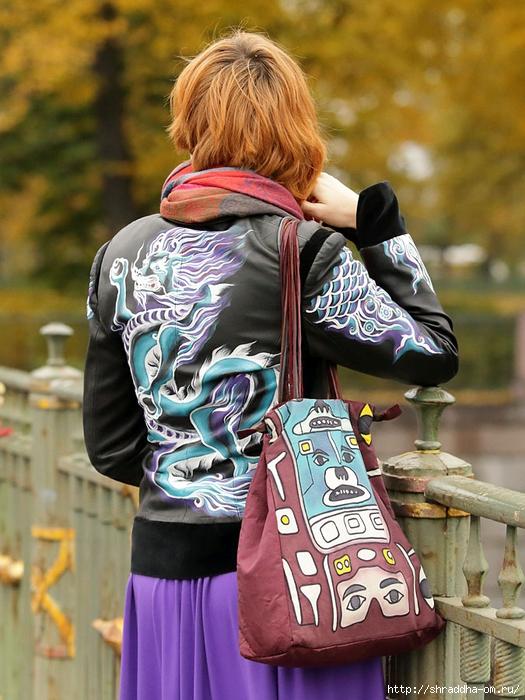 роспись куртки акрилом, автор Shraddha (0) (525x700, 312Kb)