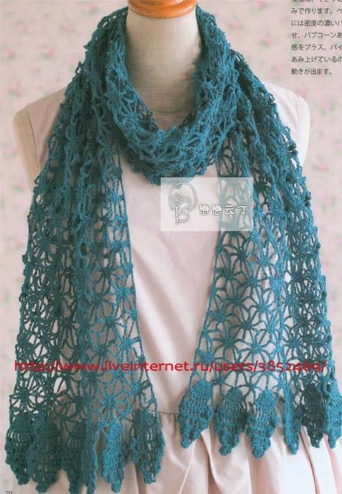 Схема весенний шарф (485x700, 297Kb)