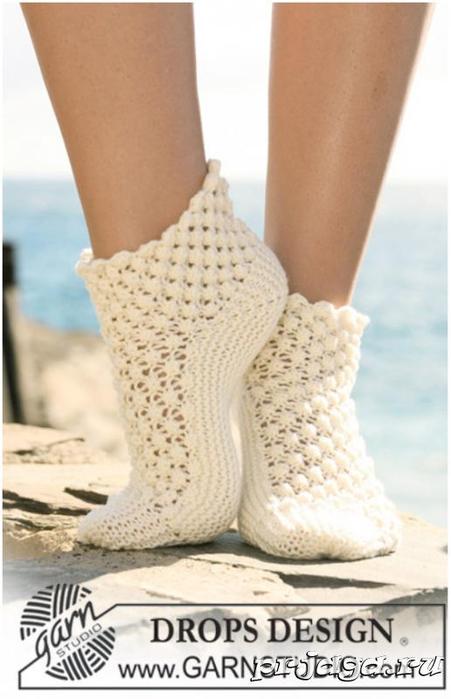 Вязать ажурные носки спицами схемы