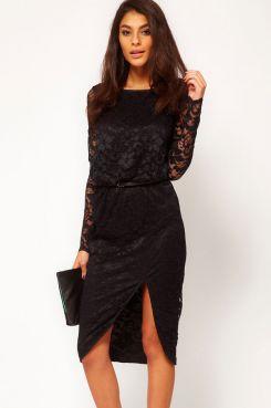 Черное удлиненное платье до колена с вырезом/5946850_11170_1 (245x369, 10Kb)