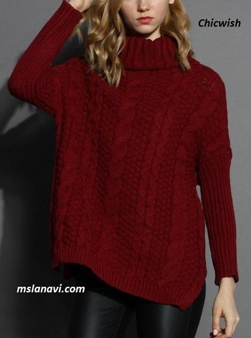длинный-свитер-спицами (500x673, 221Kb)