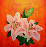 Превью White lilies (40С…40). (697x700, 419Kb)