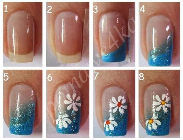 Рисуем на ногтях гель лаками пошагово видео