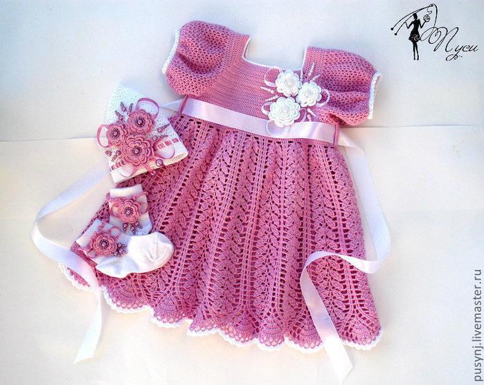 Лёгкие детские платья крючком