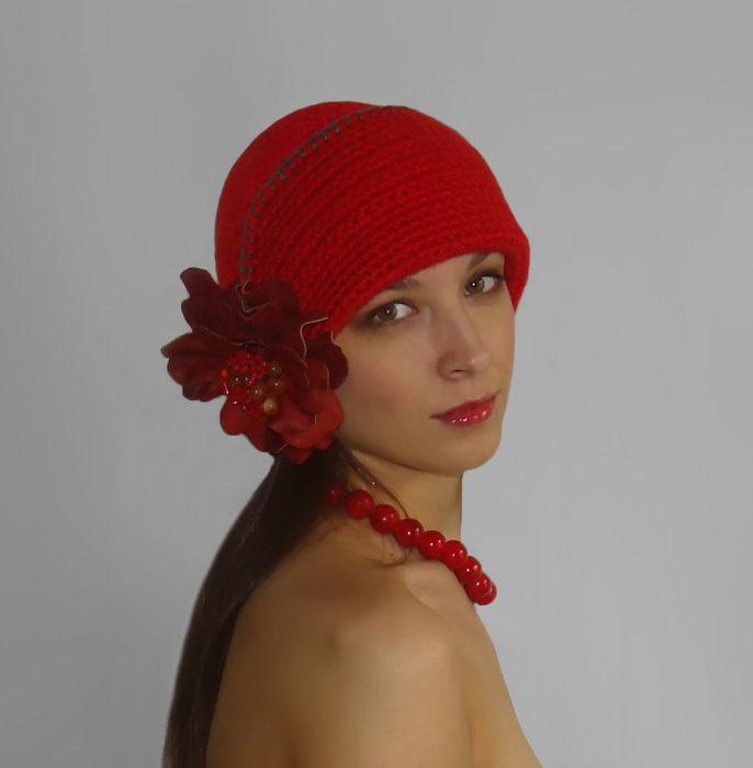 вязаная шапка (686x700, 32Kb)