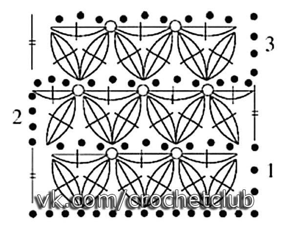 Видео вязание шали чешуйками
