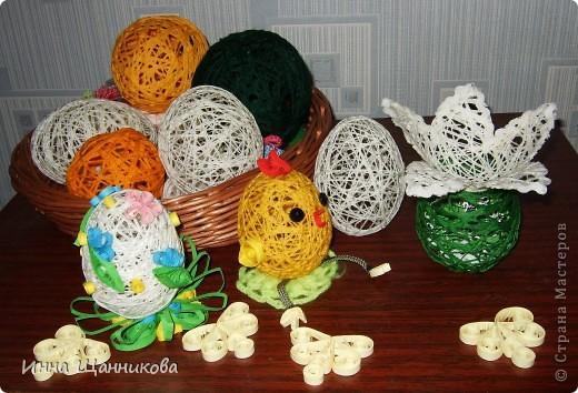 Поделки из шариков и ниток своими руками