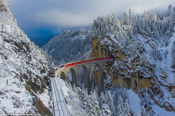 железная дорога в швейцарских альпах 1 (700x465, 466Kb)