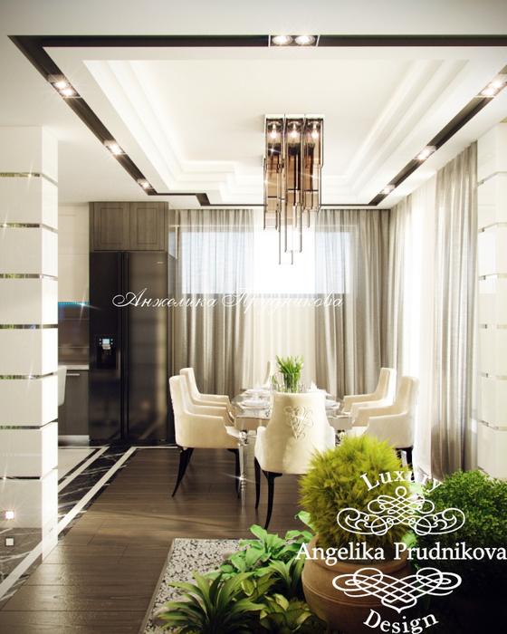 06_Интерьер кухни-столовой на первом этаже квартиры (560x700, 393Kb)
