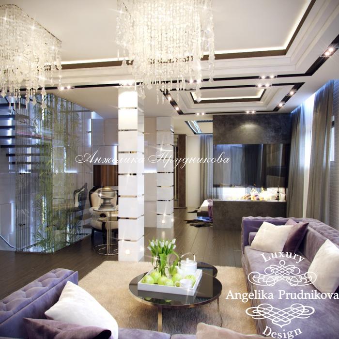 20_Интерьер гостиной на втором этаже многоуровневой квартиры (700x700, 538Kb)
