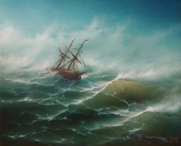 В бурном море (635x514, 233Kb)