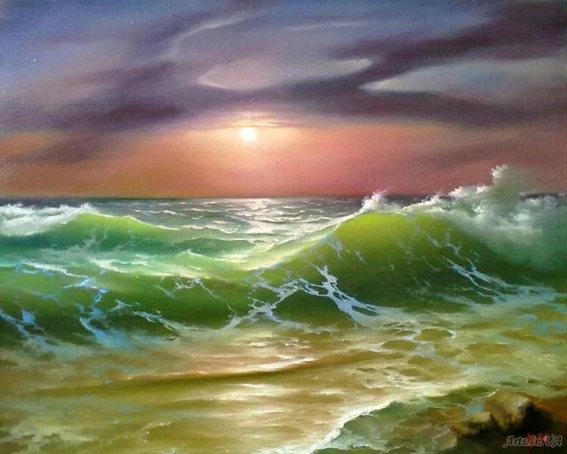 Вечерние волны. (640x512, 270Kb)