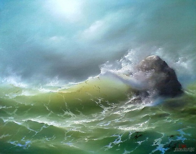 Разбиваясь о риф. (640x505, 250Kb)